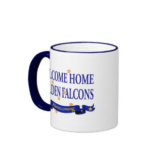 Welcome Home Golden Falcons Ringer Coffee Mug