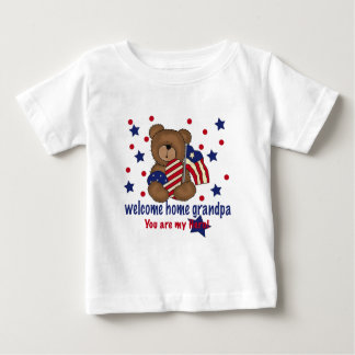 Welcome Home Grandpa Bear Baby T-Shirt