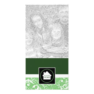 welcome home green damask card