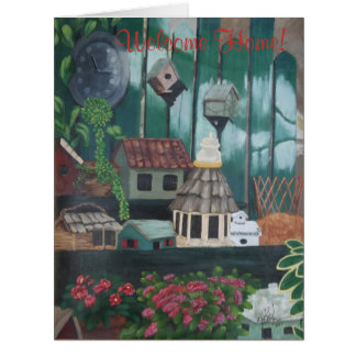 Welcome Home-greetings for movers-in Large Greeting Card