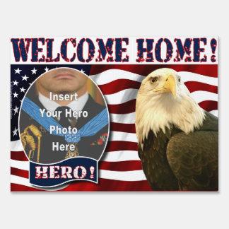 "Welcome Home ""Hero's Welcome"" Yard Sign"