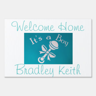 Welcome home its a boy lawn signs