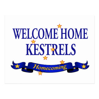 Welcome Home Kestrels Postcard