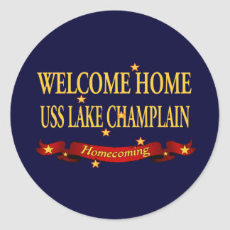 Welcome Home Lake Champlain Round Stickers