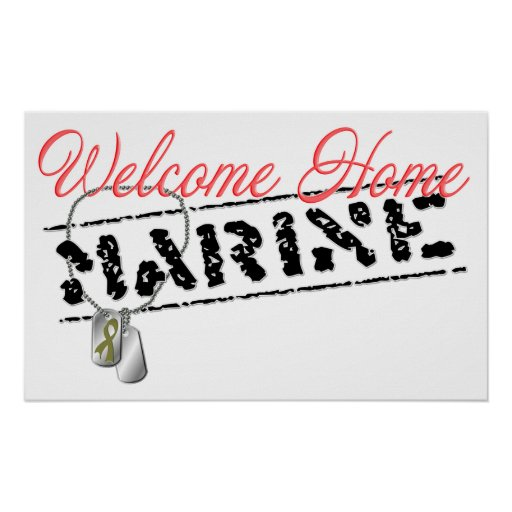 Welcome Home Marine Poster