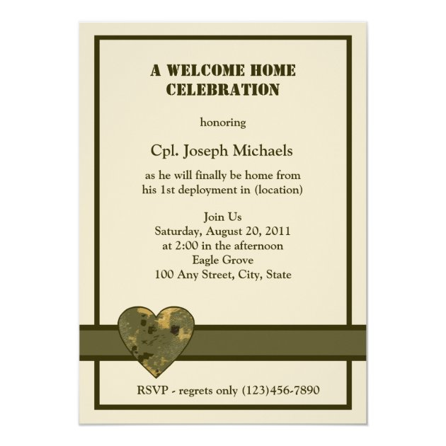 Personalized Military Invitations CustomInvitations4Ucom