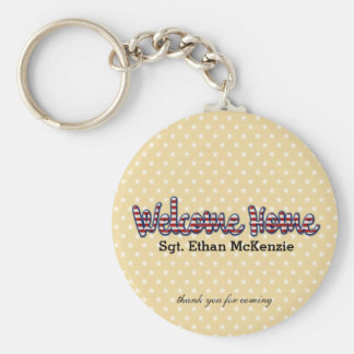 Welcome home military * choose background color basic round button keychain
