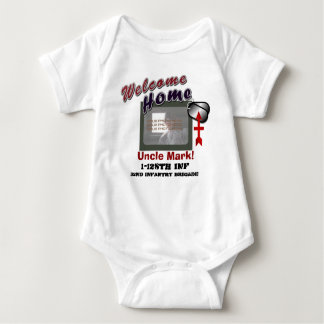 Welcome Home Military Custom Photo Baby Bodysuit