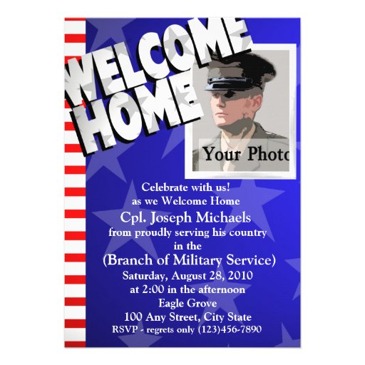 Welcome Home/ Military Custom Announcements
