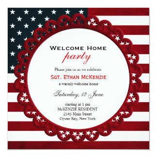 Welcome Home Military Party Custom Invitations