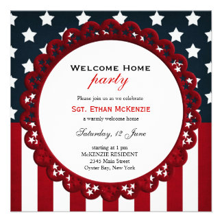 Welcome Home Military Party Personalized Invitations