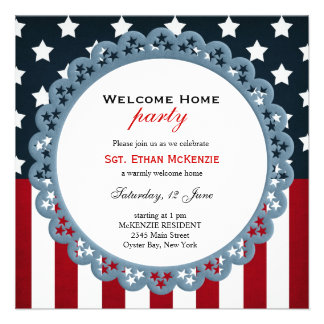 Welcome Home Military Party Invite