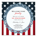 """Welcome Home Military Party 5.25"""" Square Invitation Card"""
