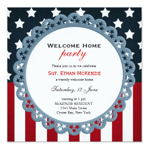 Welcome party invitations announcements zazzle welcome home military party invitation stopboris Image collections