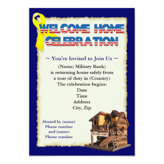 Welcome Home Military Party Invitations