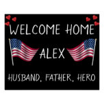 Welcome Home Military Poster