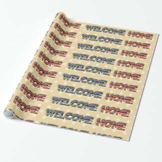 Welcome home military wrapping paper