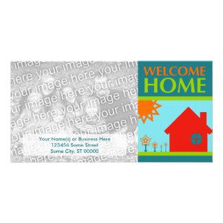 welcome home (mod crayola) photo greeting card