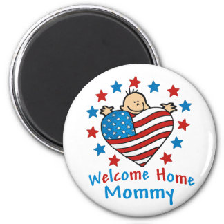 Welcome Home Mommy Baby Heart 2 Inch Round Magnet
