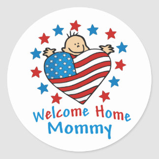Welcome Home Mommy Baby Heart Classic Round Sticker
