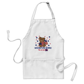 Welcome Home Mommy Bear Adult Apron
