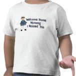 Welcome Home Mommy Navy Brat (Son) T-shirt