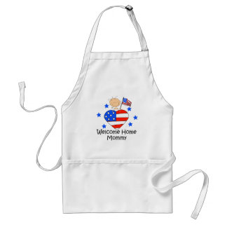 Welcome Home Mommy Stick Figure Baby Apron