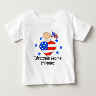 Welcome Home Mommy Stick Figure Baby Baby T-Shirt