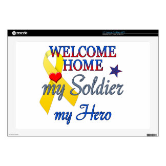 "Welcome Home My Soldier My Hero 17"" Laptop Skin"