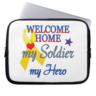 Welcome Home My Soldier My Hero Computer Sleeve