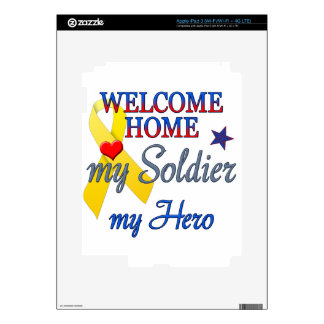 Welcome Home My Soldier My Hero Decal For iPad 3
