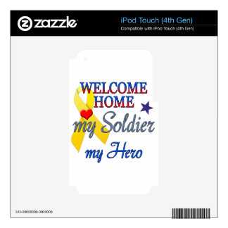 Welcome Home My Soldier My Hero iPod Touch 4G Decal