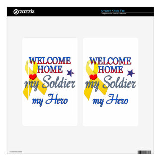 Welcome Home My Soldier My Hero Skin For Kindle Fire