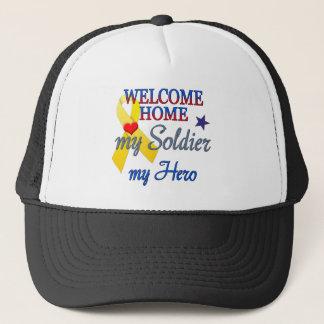 Welcome Home My Soldier My Hero Trucker Hat