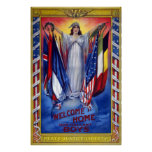 Welcome Home Our Gallant Boys Vintage WWI Poster