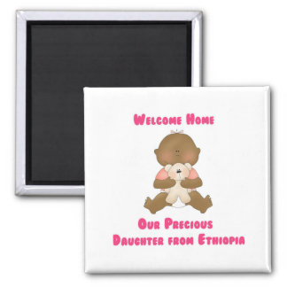 Welcome Home Our Precious Daughter 2 Inch Square Magnet