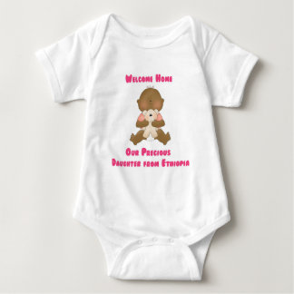 Welcome Home Our Precious Daughter Baby Bodysuit