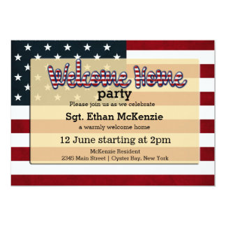 Welcome Home party Card