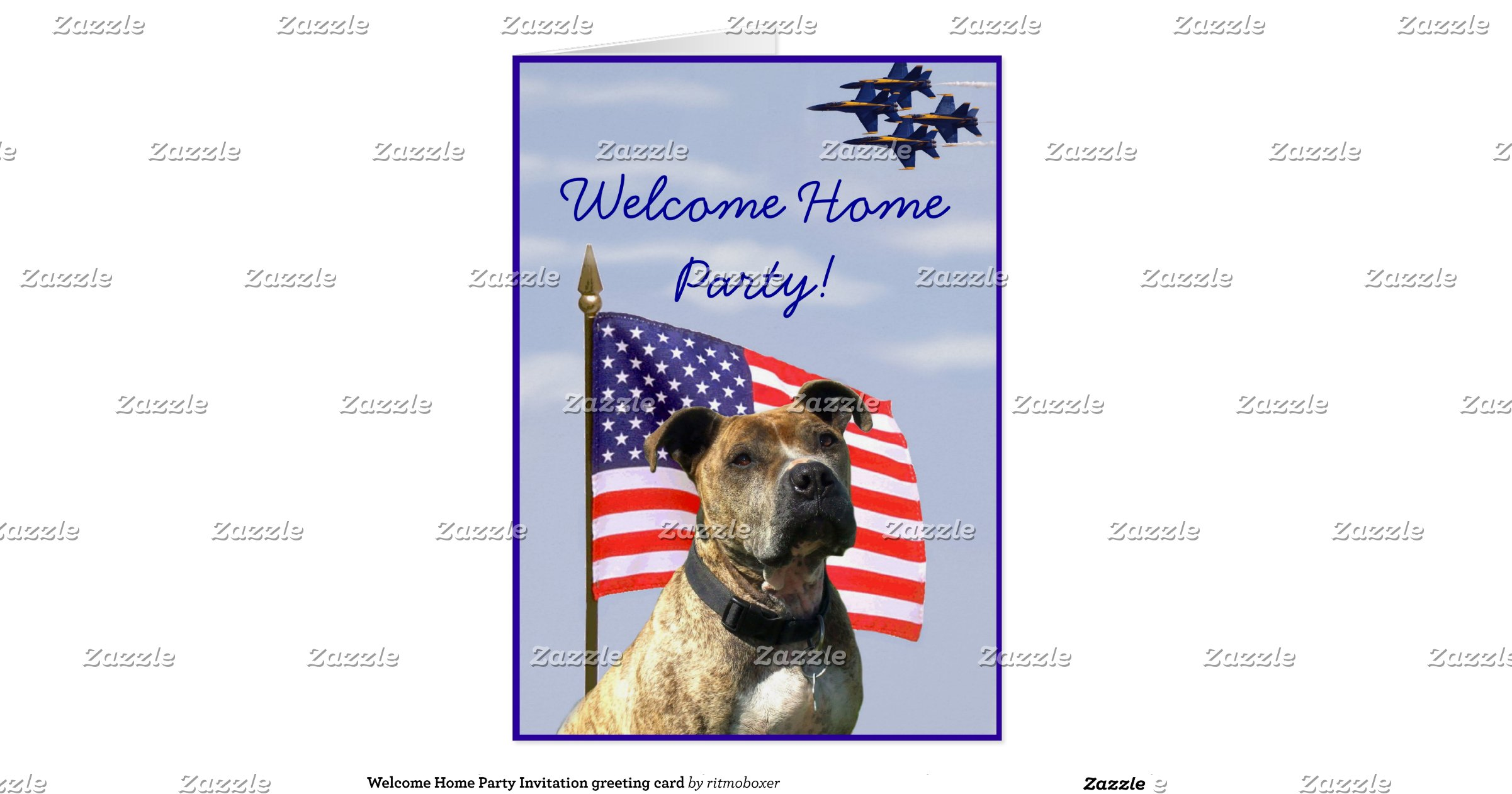 welcome home party invitation greeting card