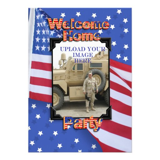 Http Www Zazzle Com Welcome Home Party Invitation Military 161898055212315501