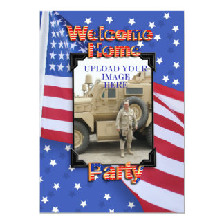 Welcome Home Party invitation Military