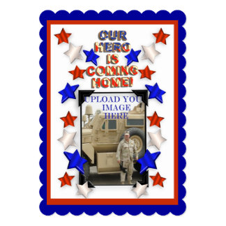 Welcome Home Party Military Patriotic American Card