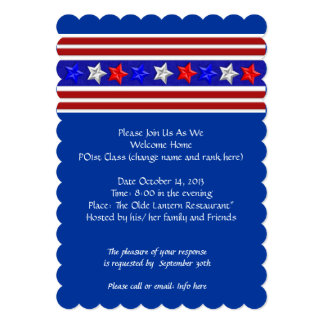 Welcome Home Party Military Patriotic American 5x7 Paper Invitation Card