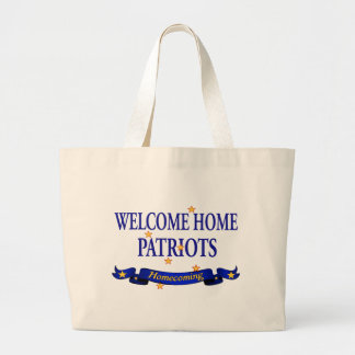 Welcome Home Patriots Canvas Bag