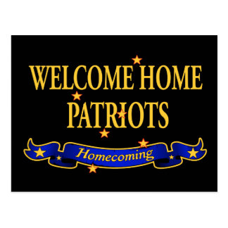 Welcome Home Patriots Postcard