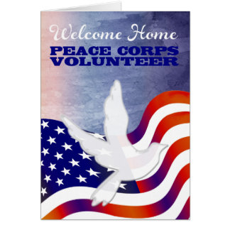 Welcome Home Peace Corps Volunteer Card