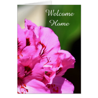 Welcome Home Pelargonium greeting card