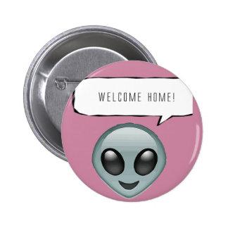 Welcome home! pin redondo de 2 pulgadas