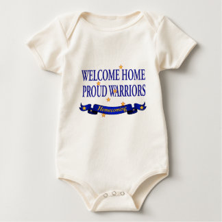 Welcome Home Proud Warriors Baby Bodysuit