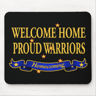 Welcome Home Proud Warriors Mouse Pad